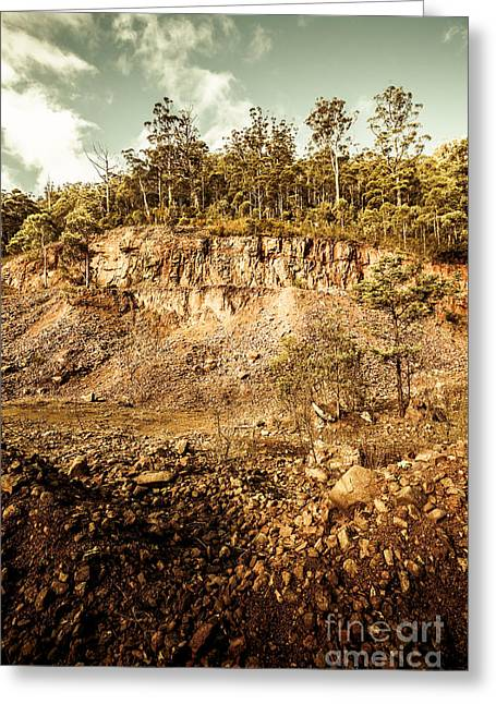 Stone Excavation Pit Greeting Card by Jorgo Photography - Wall Art Gallery