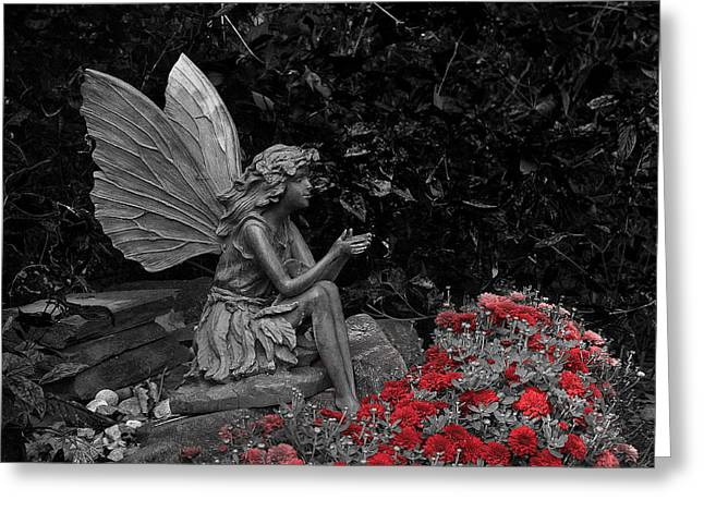 Hovind Greeting Cards - Stone Fairy Greeting Card by Scott Hovind