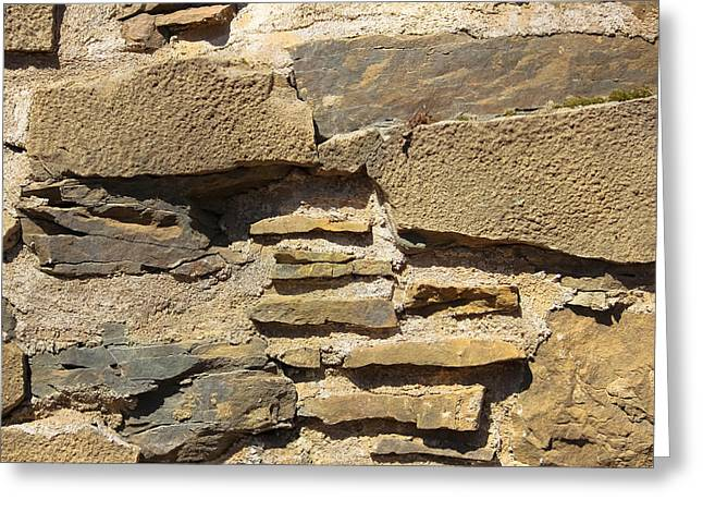 Stone Foundation - Abstract Greeting Card by Colleen Kammerer