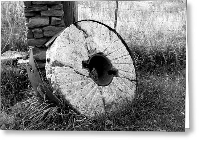 The Old Stone Grinding Wheel Greeting Card