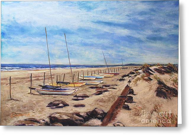 Stone Harbor Greeting Card by Joyce A Guariglia