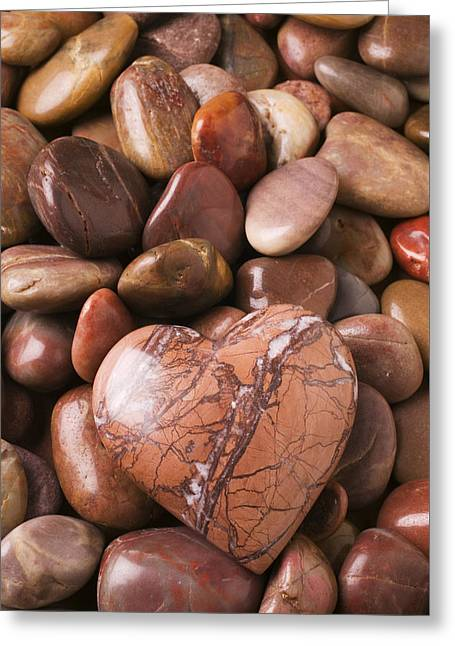 Stone Heart Greeting Card by Garry Gay