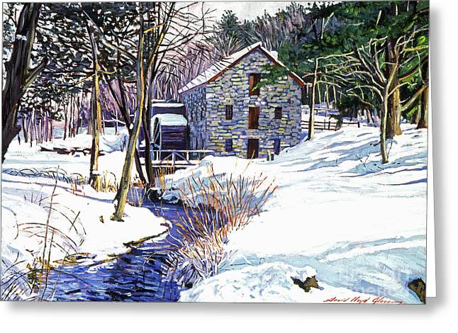 Stone Mill Greeting Card by David Lloyd Glover