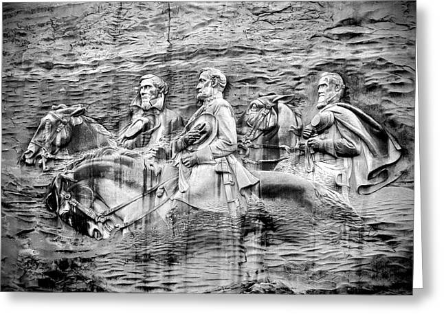 Stone Mountain Carving Greeting Card by Rebecca Stowers