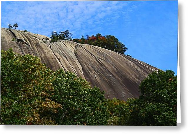Stone Mountain Greeting Card by Kathryn Meyer