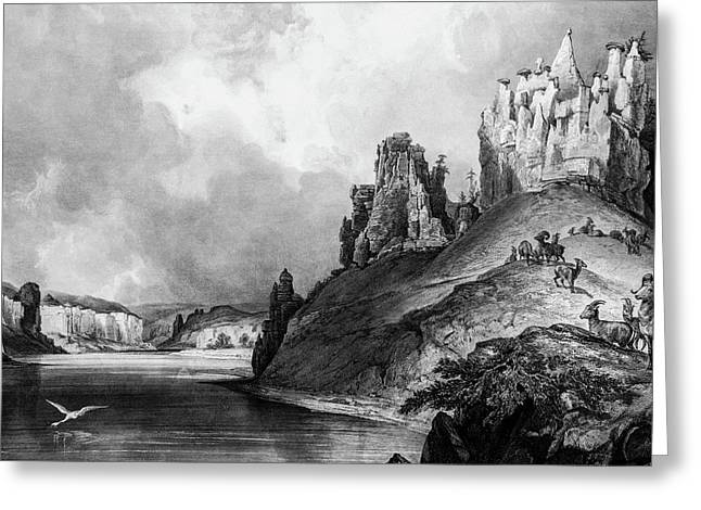 Stone Outcroppings Upper Misouri Greeting Card by Douglas Barnett