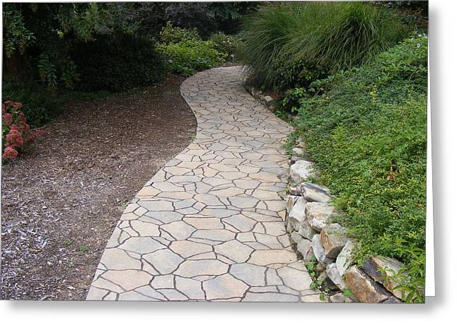 Stone Path Greeting Card by James and Vickie Rankin