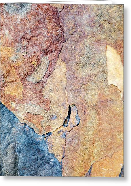 Greeting Card featuring the photograph Stone Pattern by Christina Rollo