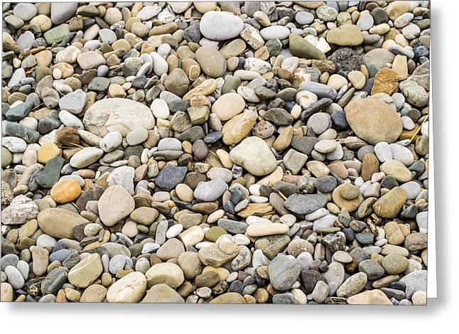Stone Pebbles Patterns Greeting Card by John Williams