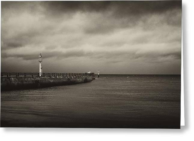 Stone Pier Pointe De Hoc Greeting Card by Hugh Smith
