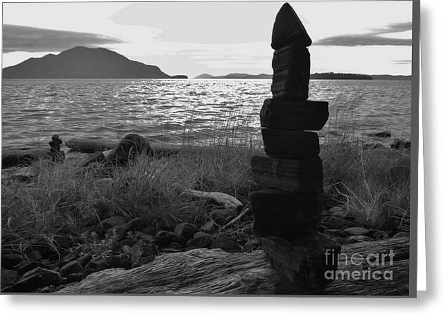 Greeting Card featuring the photograph Stone Pile by Laura  Wong-Rose
