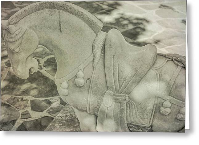 Stone Power Greeting Card by Dressage Design