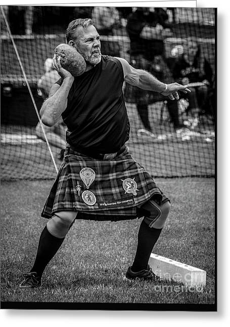 Stone Put - Scottish Festival And Highland Games Greeting Card