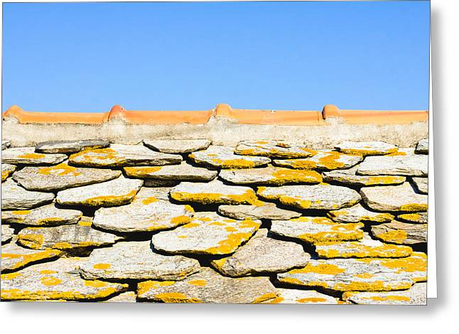 Stone Roof Greeting Card