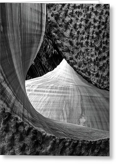 Greeting Card featuring the photograph Stone Sculpture Abstract by Rand