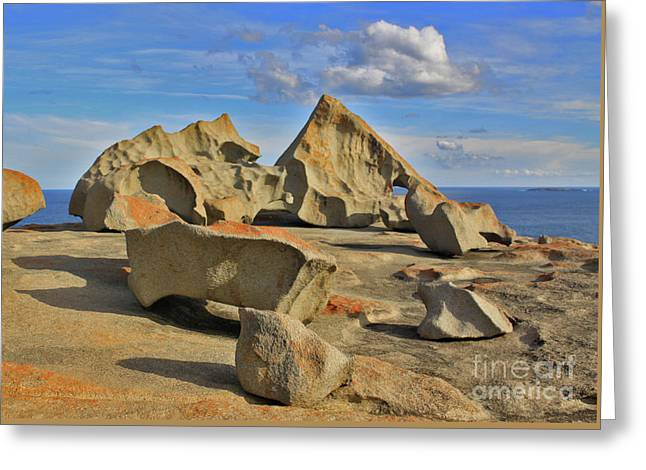 Stone Sculpture Greeting Card by Stephen Mitchell