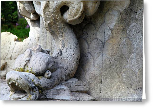 Stone Serpent  Greeting Card