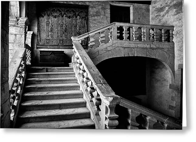 Greeting Card featuring the photograph Stone Stairs by Adrian Pym