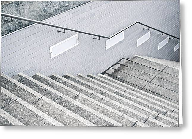 Stone Stairs Greeting Card by Tom Gowanlock