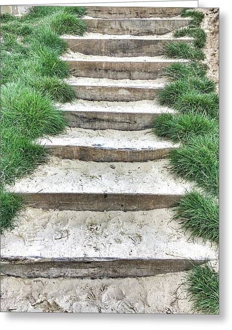 Stone Steps Detail Greeting Card by Tom Gowanlock