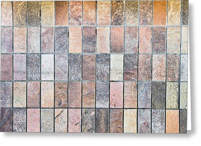 Stone Tiles Greeting Card by Tom Gowanlock