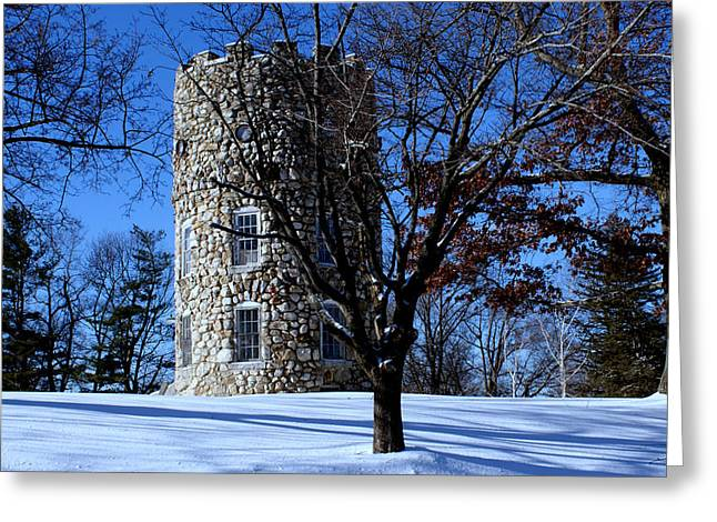 Greeting Card featuring the photograph Stone Tower by Lois Lepisto