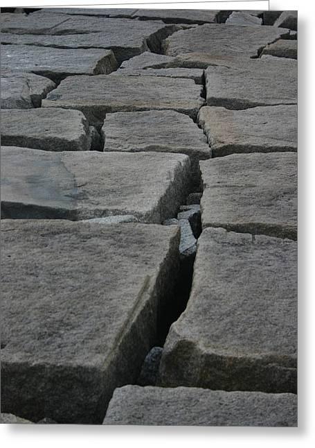 Stone Walk Greeting Card by Dennis Curry