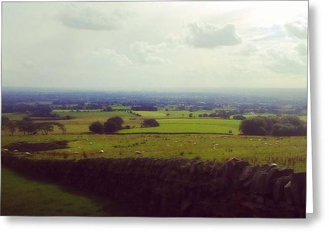 Stone Wall, Beacon Fell, Lancashire, Uk Greeting Card