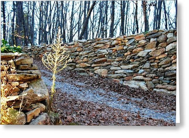 Stone Wall Ga Mountain 1 Greeting Card by Angela Murray