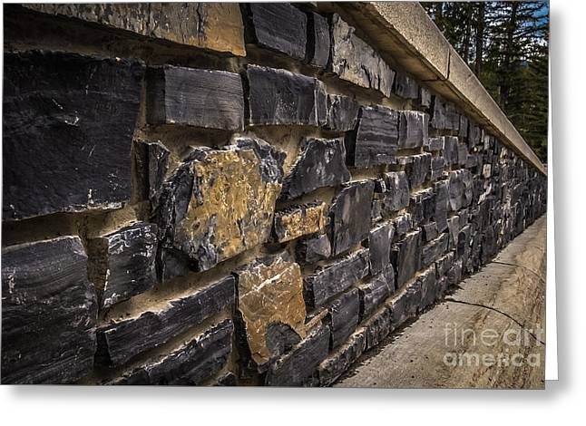 Stone Wall With Perspective Greeting Card