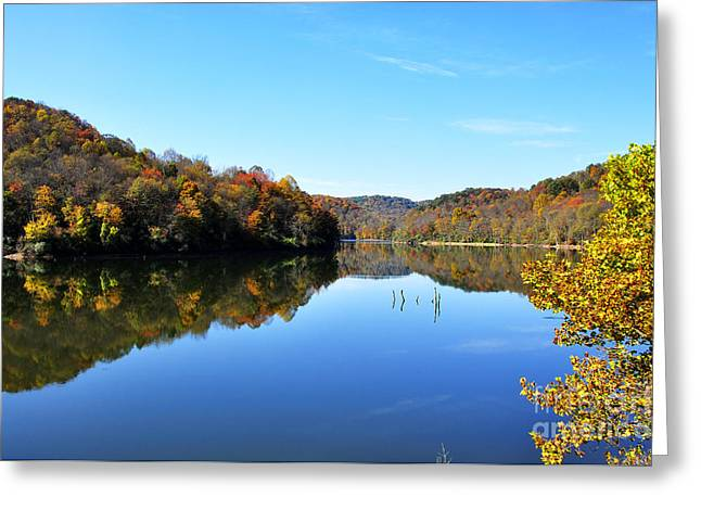 Stonecoal Lake In Autumn Color Greeting Card by Thomas R Fletcher
