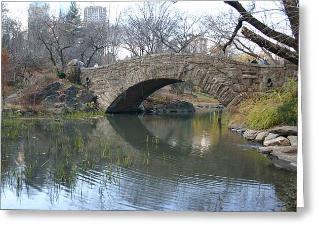 Stoned Bridge Greeting Card by Dennis Curry
