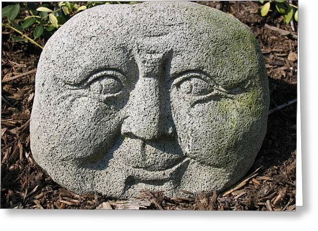 Greeting Card featuring the photograph Stoneface by Charles Kraus