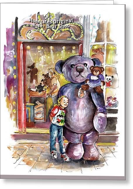 Stonegates Teddy Bear Shop In York Greeting Card