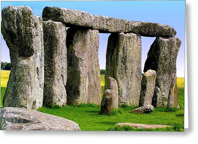 Stonehenge - England Greeting Card by Jen White