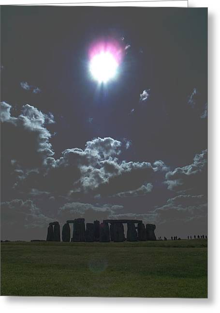 Stonehenge Greeting Card by Aaron Carberry