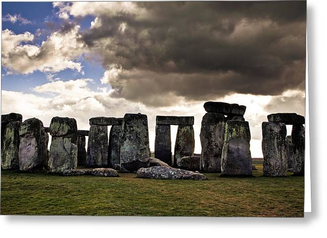 Stonehenge After The Storm Greeting Card by Justin Albrecht