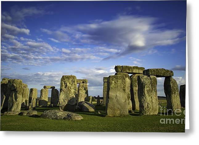 Stonehenge Evening Greeting Card by Brian Jannsen