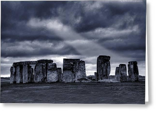 Stonehenge Greeting Card by  Jaroslaw Grudzinski