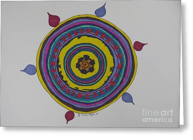 Stonehenge Mandala Greeting Card by James SheppardIII