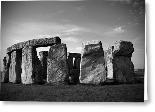 Stonehenge No 1 Bw Greeting Card by Kamil Swiatek