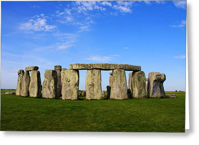 Stonehenge On A Clear Blue Day Greeting Card by Kamil Swiatek