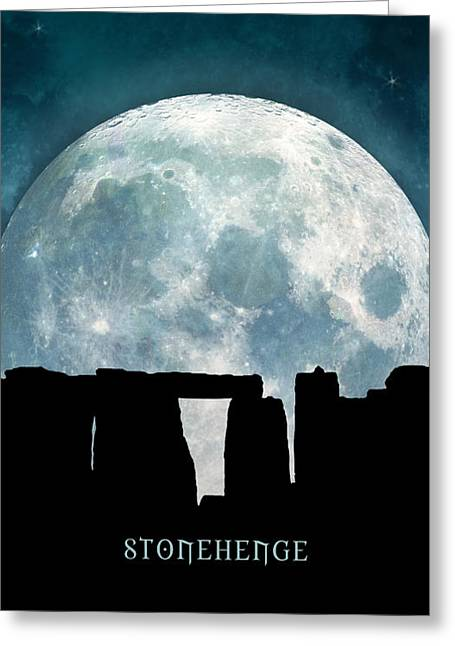 Greeting Card featuring the digital art Stonehenge by Phil Perkins