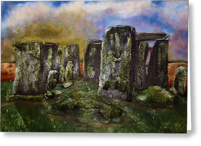 Stonehenge Greeting Card by Shelley Bain