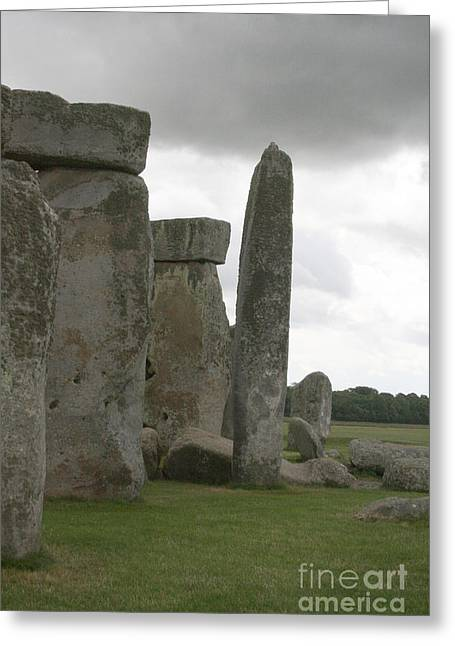 Greeting Card featuring the photograph Stonehenge Side Pillars by Mary Mikawoz