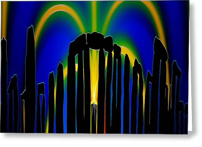 Stonehenge Solstice 2 Greeting Card by Neil Finnemore