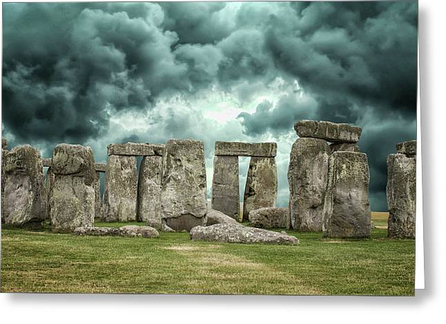 Stonehenge Storms Greeting Card