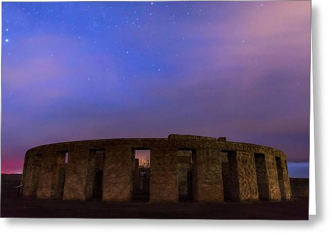 Greeting Card featuring the photograph Stonehenge Sunrise by Cat Connor