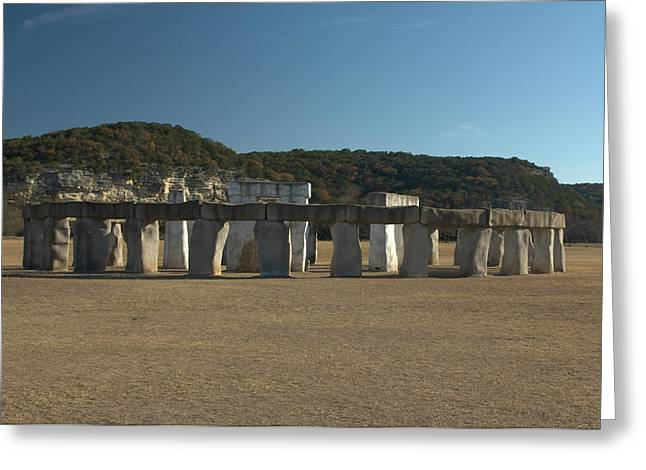 Greeting Card featuring the photograph Stonehenge Two Texas by Karen Musick