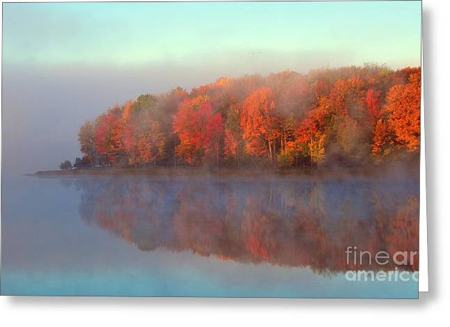 Stoneledge Lake Pristine Beauty In The Fog Greeting Card